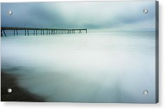 Pier Acrylic Print by Steve Spiliotopoulos