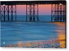 Pier Supports At Sunset I Acrylic Print