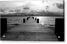 Pier To Mount Tallac Lake Tahoe Acrylic Print