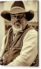 Acrylic Print featuring the photograph Piercing Eyes Of The Cowboy by Jeanne May