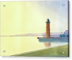 Pierhead Lighthouse, Milwaukee Acrylic Print