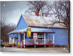 Pierpont Store Acrylic Print by Cricket Hackmann