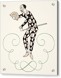 Pierrot Acrylic Print by Georges Barbier