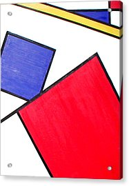 Piet Mondrian Acrylic Print by Beth Parrish