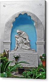 Acrylic Print featuring the photograph Pieta Garden Mission Diego De Alcala by Christine Till