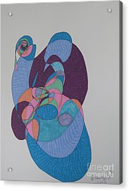 Pieta Acrylic Print by James SheppardIII