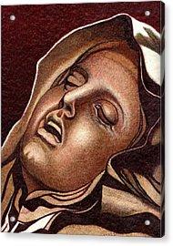 Pieta Acrylic Print by Jerry  Stith