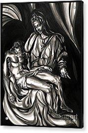 Pieta Acrylic Print by Keith  Thurman