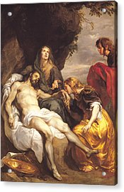 Pieta Acrylic Print by Sir Anthony van Dyck