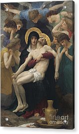 Pieta Acrylic Print by William-Adolphe Bouguereau