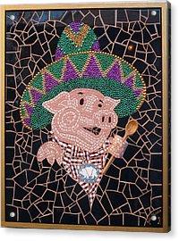 Pig In Sombrero Acrylic Print by Gila Rayberg