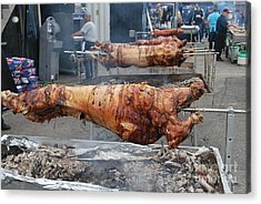 Acrylic Print featuring the photograph Pig Roast by Bill Thomson