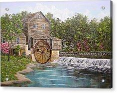 Pigeon Forge Mill Acrylic Print by Marveta Foutch