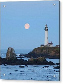 Pigeon Point At Moonset Acrylic Print