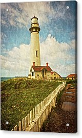 Pigeon Point Light House, Textured Acrylic Print