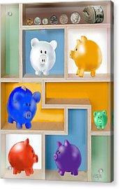 Piggy Banks Acrylic Print