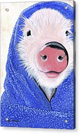 Piglet In A Blanket Acrylic Print