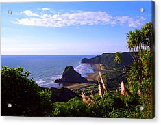 Piha Panorama Acrylic Print by Kevin Smith