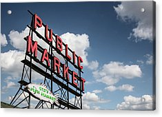 Acrylic Print featuring the photograph Pike Place Market by Ed Clark