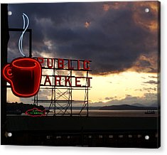 Pike Place Market Acrylic Print by Sonja Anderson
