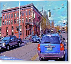Pike Street And Boren Avenue Acrylic Print