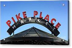 Pike Street Market Sign Acrylic Print