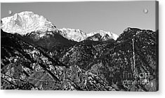 Pikes Peak And Incline 36 By 18 Acrylic Print