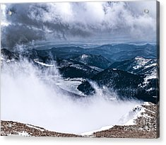 Acrylic Print featuring the photograph Pikes Peak by Anthony Baatz