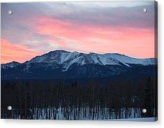 Sunrise Pikes Peak Co Acrylic Print