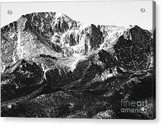Pikes Peak Black And White In Wintertime Acrylic Print