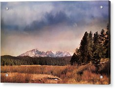 Pikes Peak Colorado Landscape Art By Jai Johnson Acrylic Print by Jai Johnson
