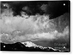 Pikes Peak Dramatic Skies Acrylic Print by Dennis Wagner