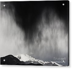 Pikes Peak Rain And Snow Acrylic Print by Dennis Wagner