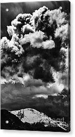 Pikes Peak Storm Acrylic Print by Dennis Wagner