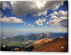 Pikes Peak Summit Acrylic Print by Shawn Everhart