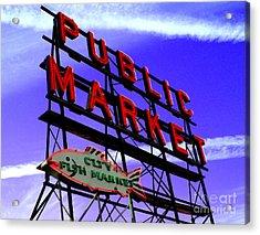 Pike's Place Market Acrylic Print by Nick Gustafson