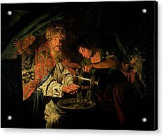 Pilate Washing His Hands Acrylic Print by Stomer Matthias