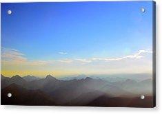 Pilchuck And Three Sisters Sunrise Acrylic Print
