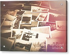 Pile Of Old Scattered Photos Acrylic Print by Jorgo Photography - Wall Art Gallery