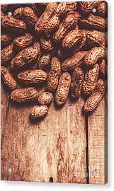 Pile Of Peanuts Covering Top Half Of Board Acrylic Print by Jorgo Photography - Wall Art Gallery