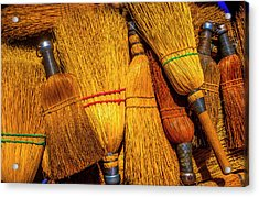 Pile Of Whisk Brooms Acrylic Print
