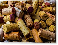 Pile Of Wine Corks Acrylic Print by Garry Gay