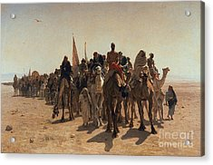 Pilgrims Going To Mecca Acrylic Print
