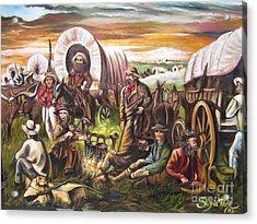 American    History  Pilgrims On The Plain Acrylic Print