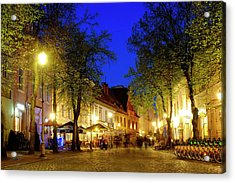 Acrylic Print featuring the photograph Pilies Street by Fabrizio Troiani