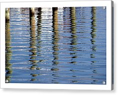 Acrylic Print featuring the photograph Pilings Beaufort Nc by Phil Mancuso