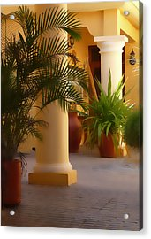 Pillars And Palms Acrylic Print