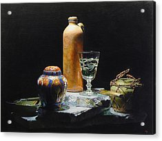 Pillars Of Light Acrylic Print by Jeffrey Hayes