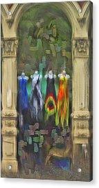 Acrylic Print featuring the digital art Piller Dresses by Dale Stillman