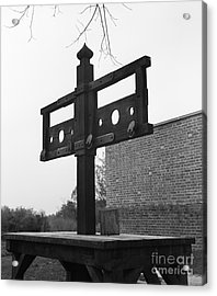 Pillory In Colonial Williamsburg Acrylic Print